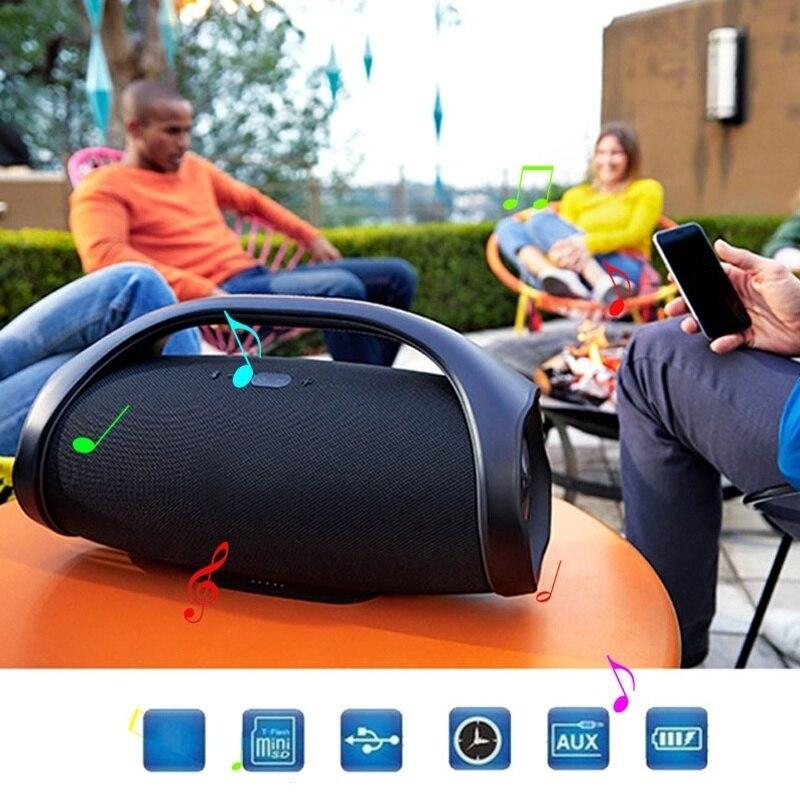 Professionnel IPX7 Portable étanche extérieur HIFI colonne sans fil Bluetooth haut-parleur Subwoofer boîte de son Support FM Radio TF Mp3
