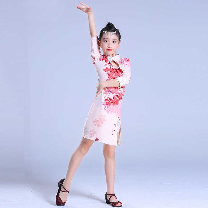 Sunenjoy B/éb/é Filles Robe Chinoise Princesse Robe Qipao Traditionnel Classique Dragon Ph/énix Brod/é Bowknot Tutu Tulle Robe Tenue Soir/ée F/ête Photographie Costume Cadeau
