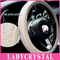 Ladycrystal 38cm Universal Crystal Covered Steering Wheel Cover Girls Steering Wheel Covers For BMW For Benz For Audi For Toyota