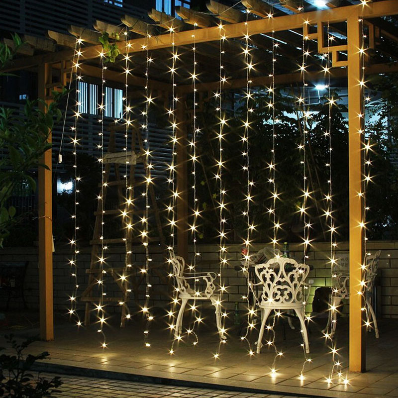 String lights christmas garland lights xmas fairy lights outdoor string lights christmas garland lights xmas fairy lights outdoor home curtaingarden decoration aloadofball Images