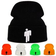 Вязаная зимняя шапка Billie Eilish, однотонная вязаная шапка в стиле хип-хоп Skullies, аксессуар для костюма, теплая зимняя шапка, 5 цветов