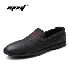 Купить с кэшбэком Plus Size Men Shoes Natural Leather Casual Shoes Soft  Loafers Moccasins Retro Style Driving Shoes Men Dropshipping