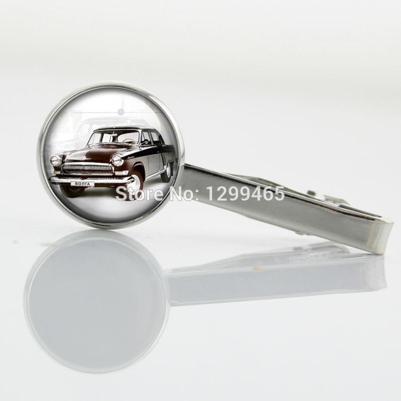 Best Deals Ever Car art pture glass cabochon Tie clip Exquisite popular car Tie Pin Academy glass Men Necktie Tie Bar T 101