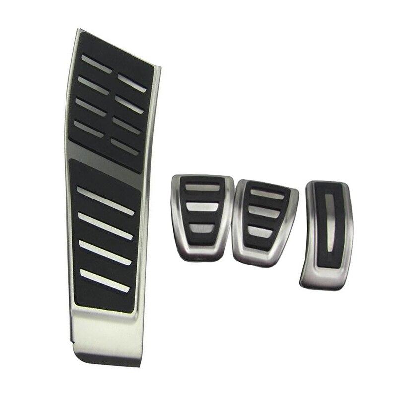 RHD Gas Fuel Brake Footrest Cover Pad Trim AT & MT For Audi A5 B8 2007-2015 A4 B8 8K Q5 8R Foot Pedal Cap Kit  RHD Gas Fuel Brake Footrest Cover Pad Trim AT & MT For Audi A5 B8 2007-2015 A4 B8 8K Q5 8R Foot Pedal Cap Kit