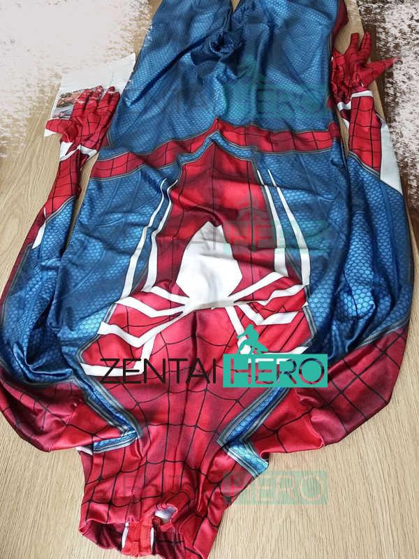 3D печатных бессонница игровой костюм с рисунком Человека-паука детская одежда комплект PS4 бессонница костюм Человека-паука, комплект одежды с принтом «Человек-паук» линзы, зентай, костюм боди супергероя