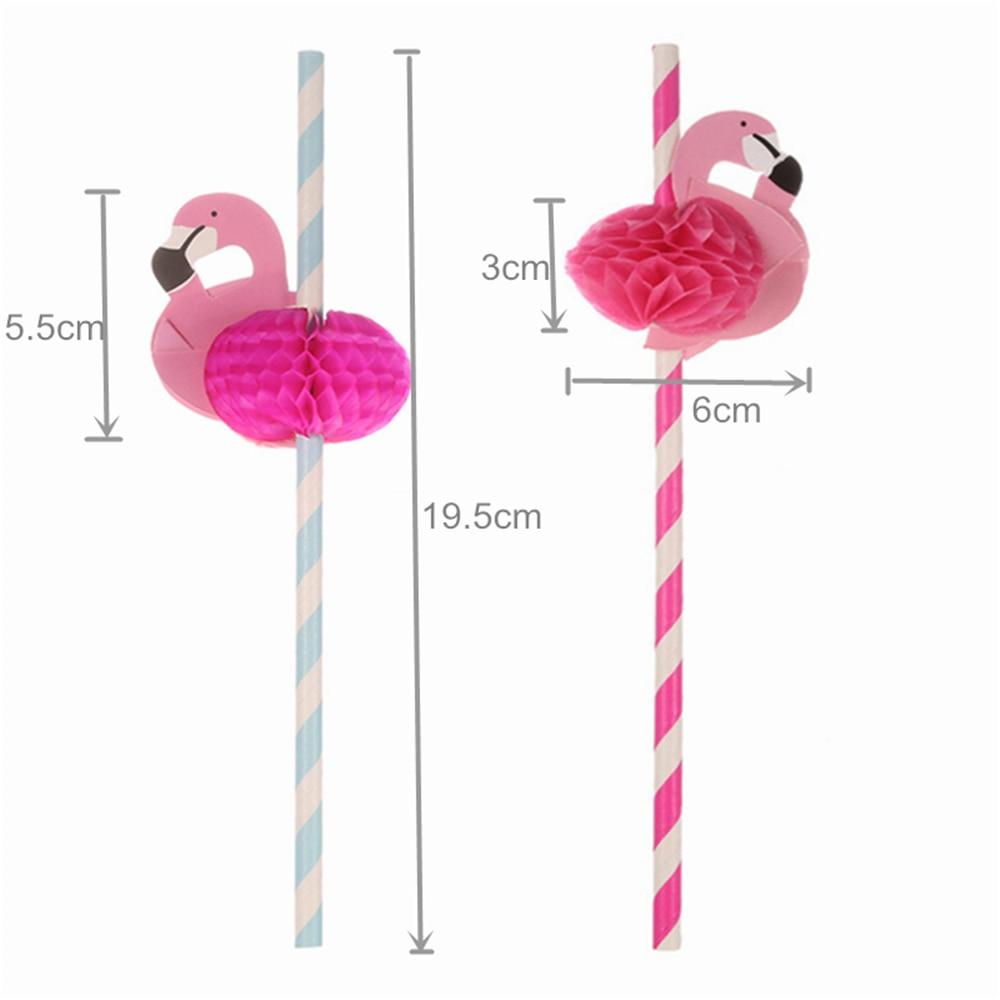 Flamingo Party Straws 10Pcs/set Reusable Plastic Straws Party Diy Decorations Paper Straws Wedding Table Decoration Supplies,9 2