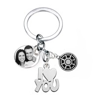 No Matter Where You Are I Love You Picture Dod Tag Necklace Stainless Steel Stainless Steel