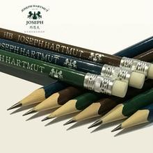 12 шт. набор карандашей для рисования Нетоксичная деревянная треугольная ручка с ластиком HB карандаши для канцелярские принадлежности для школьников, студентов подарок Potlood