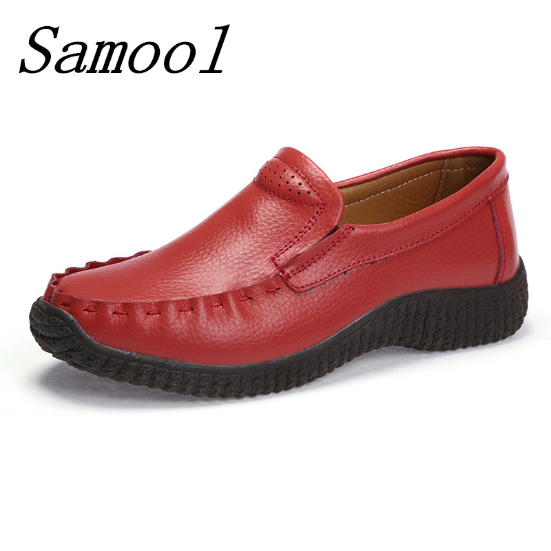 Fashion Women Leather Shoe Moccasins Mother Loafers Soft Leisure Flats Female Breathable Driving Casual Comfortable Footwear jx2 2017 new leather women flats moccasins loafers wild driving women casual shoes leisure concise flat in 7 colors footwear 918w