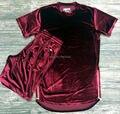 Бренд улица канье уэст мужчины бархат сторона молния удлинить футболки добычу twga хип-хоп футболка майка рубашка одежда Camiseta
