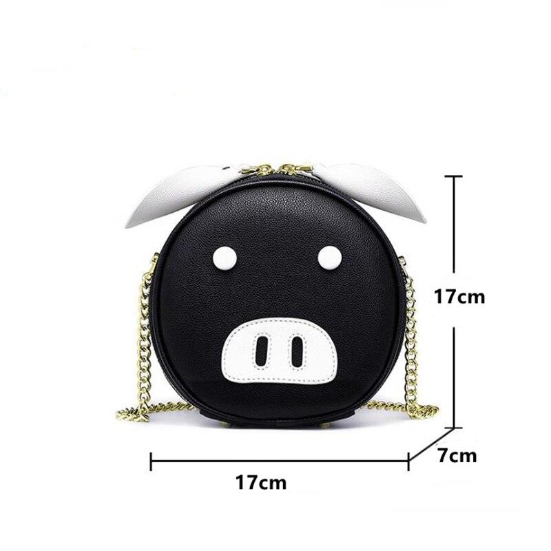 2019 nuevo verano Popular pequeño fresco de moda redondo pequeño bolso bandolera bolso de dibujos animados PU bolsa de cerdo Guangzhou para mujer bolsa - 2