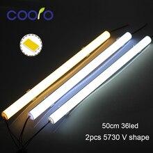 Barre lumineuse LED dangle en aluminium avec couvercle incurvé, 50CM, dc 12V, 5 unités/lot, lumière dangle de placard, 5730 V