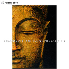 Free Shipping Best Wall Decoration Handmade Buddha Portrait Painting On Canvas Hand painted Abstract Modern Half