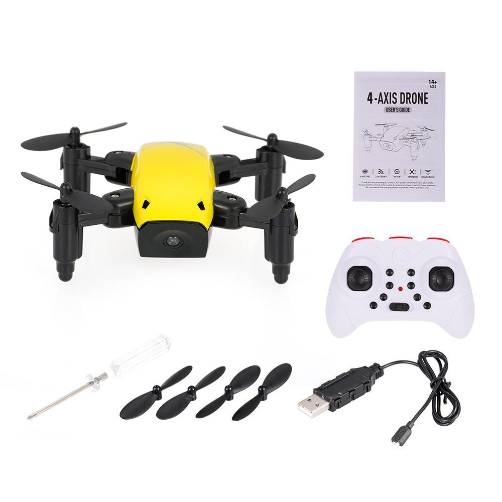 New Cute Mini Drone S9 2.4G 4CH 6-axis Gyro Selfie Drone Headless Mode One Key Return Foldable Dron RC Quadcopter RTF Gift (5)