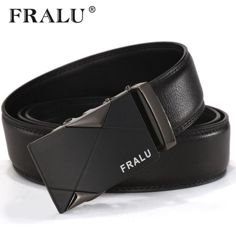2018 men s fashion100 Genuine Leather belts for men High quality metal automatic buckle Strap male