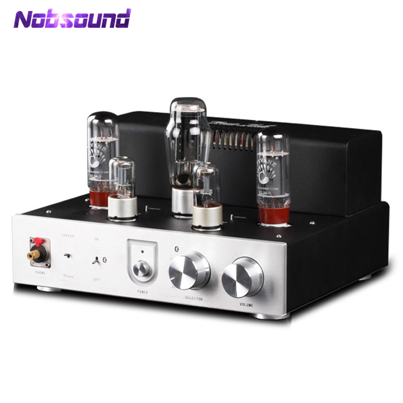 цена на Nobsound Bluetooth EL34 Vacuum Tube Amplifier Audio HiFi Stereo Headphone Amp Integrated Single-Ended Class A Power Amp