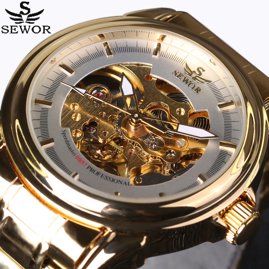 2016 SEWOR Luxury Brand Watches Men Automatic self-wind Fashion Casual Male Sports Watch Clock Full Steel Military Wrist Watches купить в Москве 2019