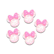 LF 20Pcs Mixed Resin  Mouse Patches 18x17mm Decoration Crafts Flatback Cabochon Embellishments For Scrapbooking Diy Accessories