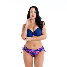 3 Colors Women Sexy Push Up Printing Bra Set Beach Bathing Suit Bikinis Plus Size Summer Bikini Split Body Swimwear
