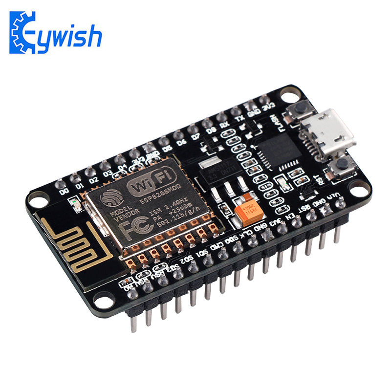 Keywish Wireless Module NodeMcu V3 Lua WIFI Internet ESP8266 with PCB <font><b>Antenna</b></font> and Micro <font><b>USB</b></font> Port ESP-12E CH340 CP2101 ESP8285 image
