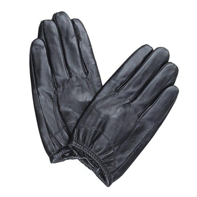 7c2e0ac642cf3a Männer leder handschuhe dünne abschnitt schaffell kurze leder handschuhe  winter touch screen warme fahren handschuh fäustlinge