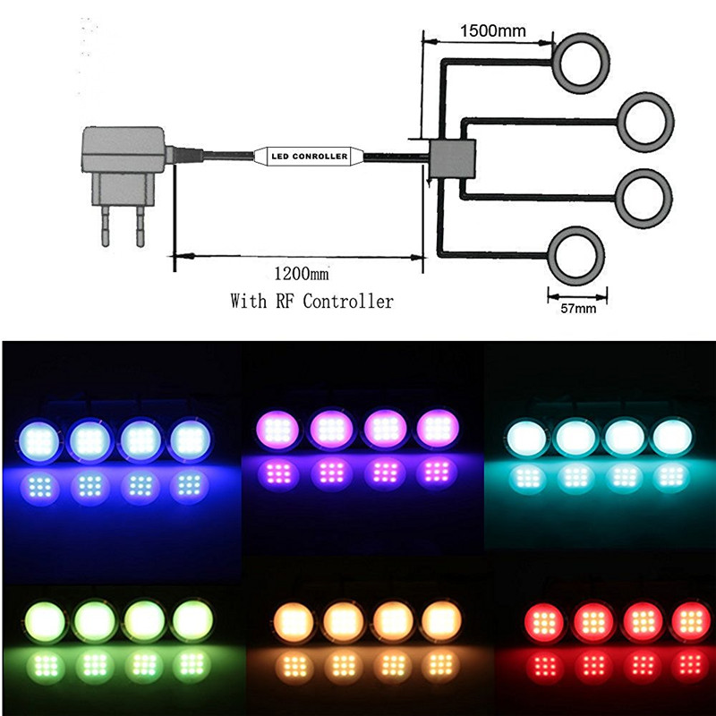 under cabinet led lights kit RGB 6 lamps 05