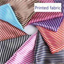 Tissu en Satin de Polyester imprimé à rayures bon marché pour doublure Textile domestique T114