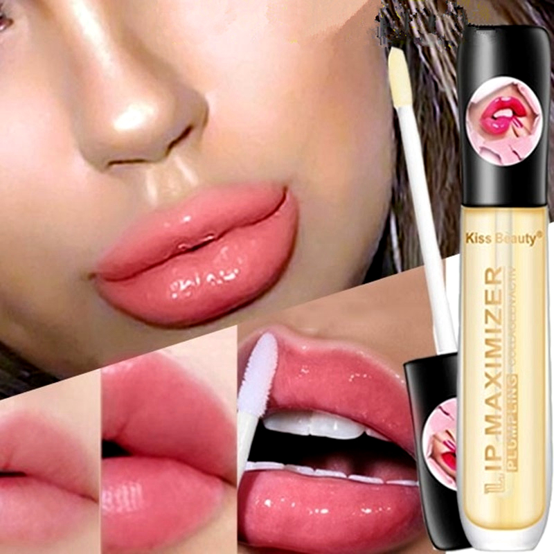Lips Makeup Plumper Lip Gloss Long Lasting Big Lip Plump Moisturizer Volume Full Sexy Vitamin E Mineral Oil Matte Lipgloss