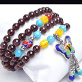 New Fashion 6mm Grade A Garnet Beads Bracelet Tibetan Buddhist 108 Prayer Beads  Gourd mala Prayer Bracelet for Meditation
