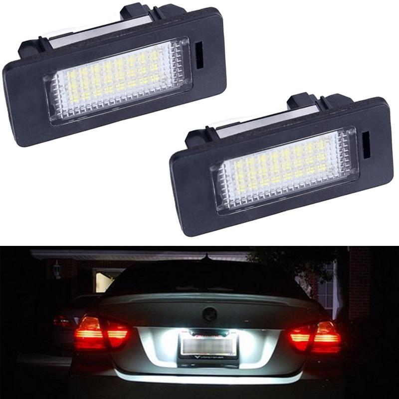 2Pcs/Pair 12V For BMW E60 Led Number License Plate Light Lamp For For BMW E60 E82 E90 E92 E93 M3 E39 E60 E70 X5 E39 E60 E61 M5 2x e marked obc error free 24 led white license number plate light lamp for bmw e81 e82 e90 e91 e92 e93 e60 e61 e39 x1 e84