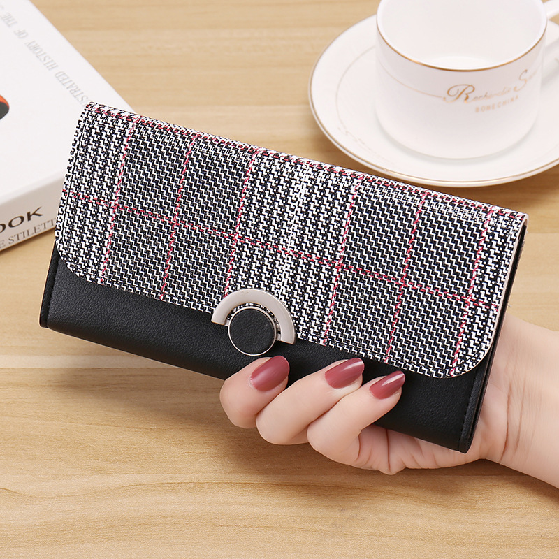 Long Wallet Women Purse Three Fold Slim Wallets