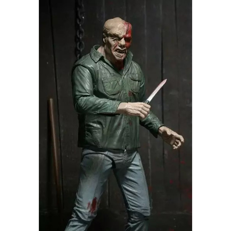 NECA 3D Friday The 13th Part 3 The Final Chapter Jason Voorhees PVC Action Figure Model Doll 18cm (11)