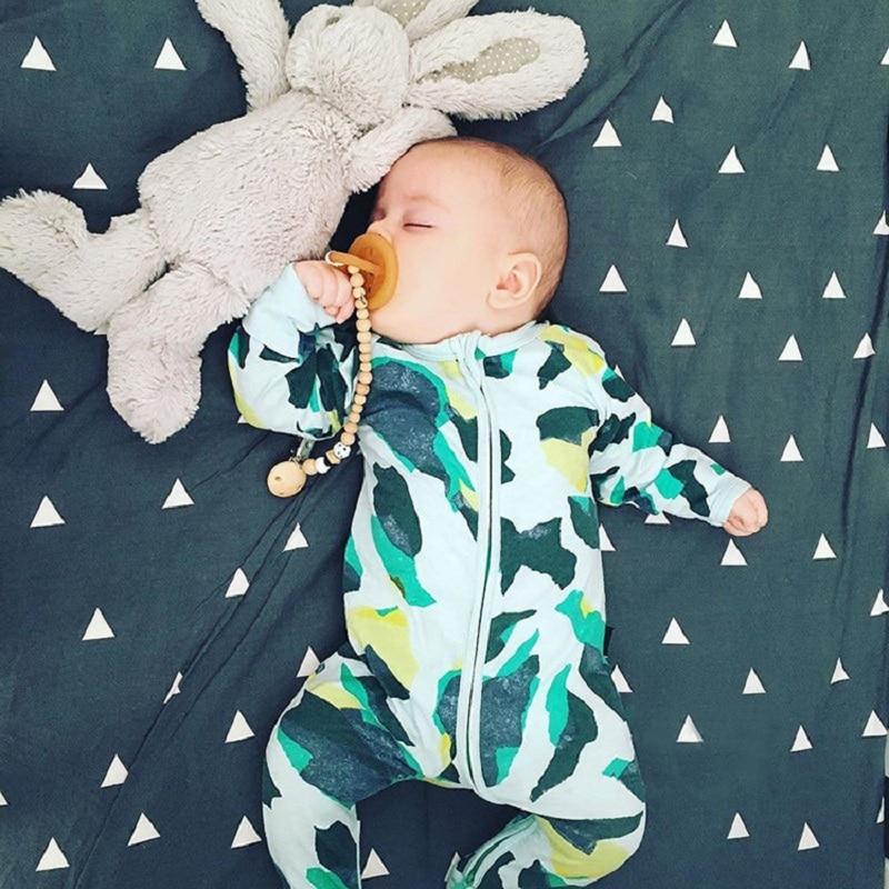 b7e6ba902 2018 New Spring Newborn Baby Rompers Long Sleeve Baby Girl Boy ...