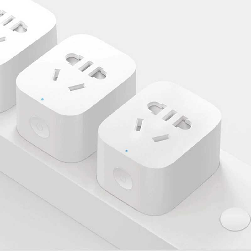 Xiaomi Mijia Original Smart Socket Plug Zigbee Mi Home WiFi Wireless Remote Adaptor Smart Socket Timer With APP Control Outlet