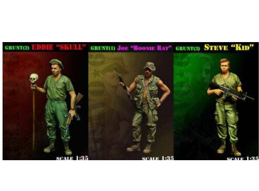 <font><b>1</b></font>/<font><b>35</b></font> <font><b>Vietnam</b></font> <font><b>War</b></font> summer soldier INCLUDE 3 toy <font><b>Resin</b></font> Model Miniature <font><b>resin</b></font> <font><b>figure</b></font> Unassembly Unpainted image