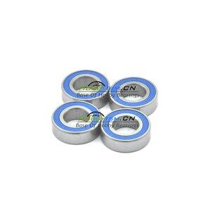 4PCS 6x13x5 blue Rubber Bearings ABEC-3 686 2RS(China)