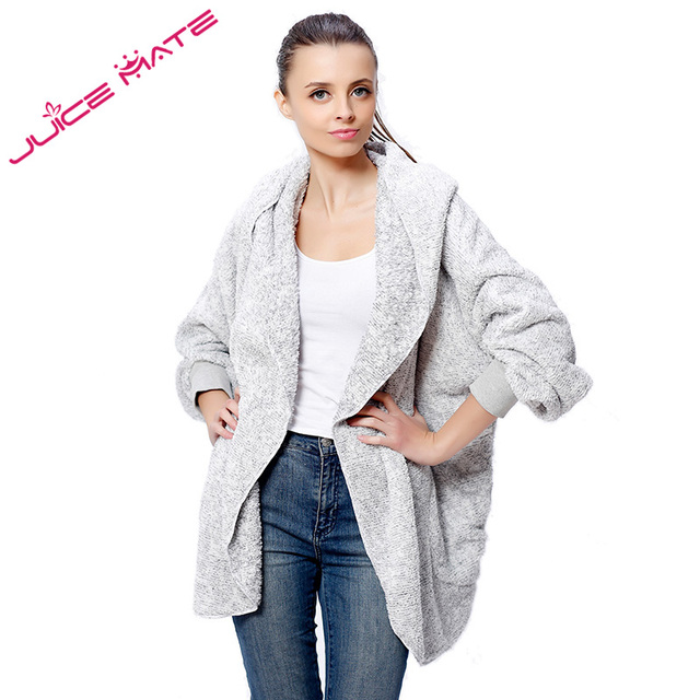 2017 Fashion Oversized Fleece Warm Cardigan Women Two Tone Poncho ...