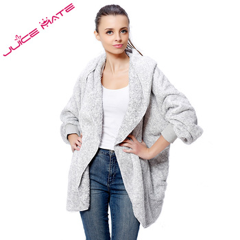 2016 Spring  Fashion Design Brand Fleece Cardigan Women Two-Tone Casual Loungewear Shrug Cardigan for Lady  roupas da moda masculina 2019