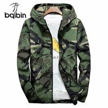 Camuflagem blusão masculino bombardeiro jaquetas 2019 casual com capuz primavera outono casaco masculino plus size 6xl 7xl