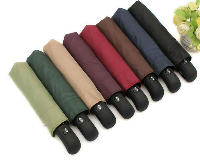 3 fold umbrella automatic umbrella windproof rainproof business men umbrella.