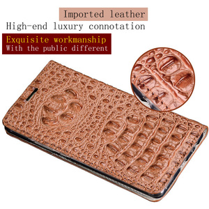 Image 5 - Wangcangli Genuine Leather Flip Case For iPhone 8 X Crocodile Back Texture Phone Cover For iPhone 6 6S 7 Plus Cases