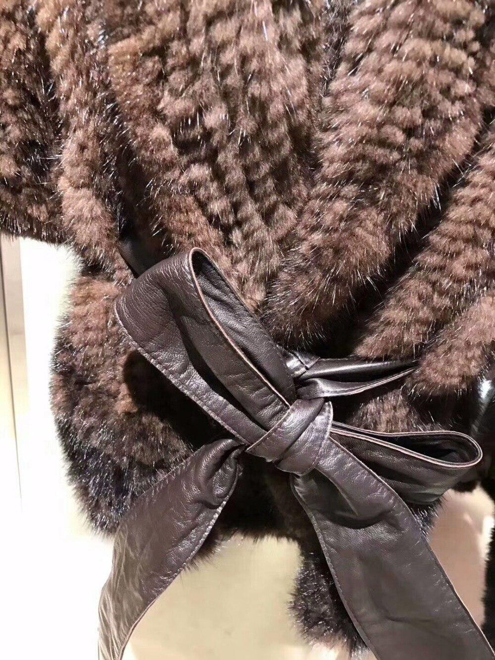 Fourrure D'hiver Fourrure Femmes Mode Incroyable Femmes Hiver Qualité Vison Parka Manteaux Armure De Réel Top Manteau 100 Luxe Veste Manteau F6qqRw