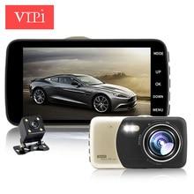 4.0 pulgadas IPS de doble lente de la cámara del coche cámara de vídeo dvr auto coches dvr carcam dash cam full hd 1080 p grabador de vídeo registrator de aparcamiento