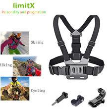 Ciało w klatce piersiowej pasek dla Gopro hero SJCAM Sony RX0 X3000 X1000 AS300 AS200 AS100 AS50 AS30 AS20 AS15 AS10 AZ1 mini POV kamery akcji