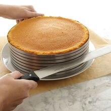 Нержавеющая сталь 9 дюймов до 12 дюймов торт кольцо плесень резак ломтерезка круглая Регулируемая 7 слоев формы для Мусса для выпечки