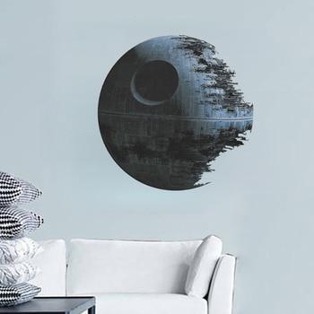 3d planeta muro estelar pegatinas roto planeta de la estrella de la muerte de Casa decoración diy estampado para el salón calcomanías poster artístico para mural