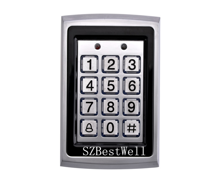 Metal RFID Reader 125kHz Proximity Door Access Control Keypad 7612 Support 1000 Users Electric Digital Password Door Lock digital electric best rfid hotel electronic door lock for flat apartment