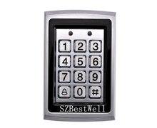 Lector de 125 kHz de Proximidad RFID Puerta de Control de Acceso Del Teclado de Metal 7612 Apoyo 1000 Usuarios Eléctrica Digital Cerradura de La Puerta Contraseña