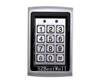 Metal RFID Reader 125kHz Proximity Door Access Control Password Keypad With 10 RFID Card