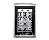 Metal RFID Reader 125kHz Proximity Door Access Control Password Keypad With 10 RFID Card